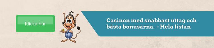 Lista casinon med snabba uttag